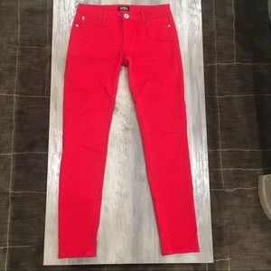 Red celebrity pink jeans